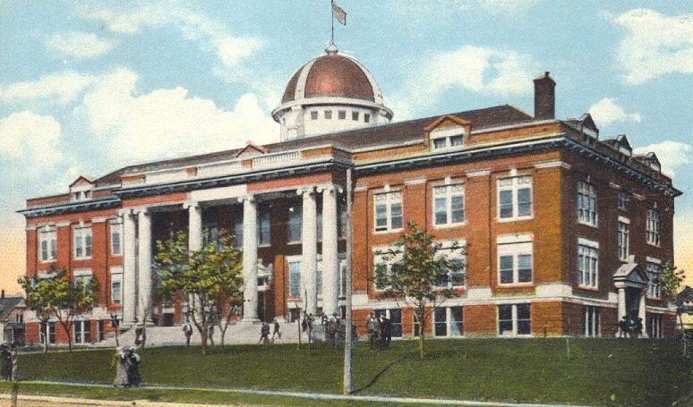Historic Lawton City Hall in 1911 when it served as the Lawton High School