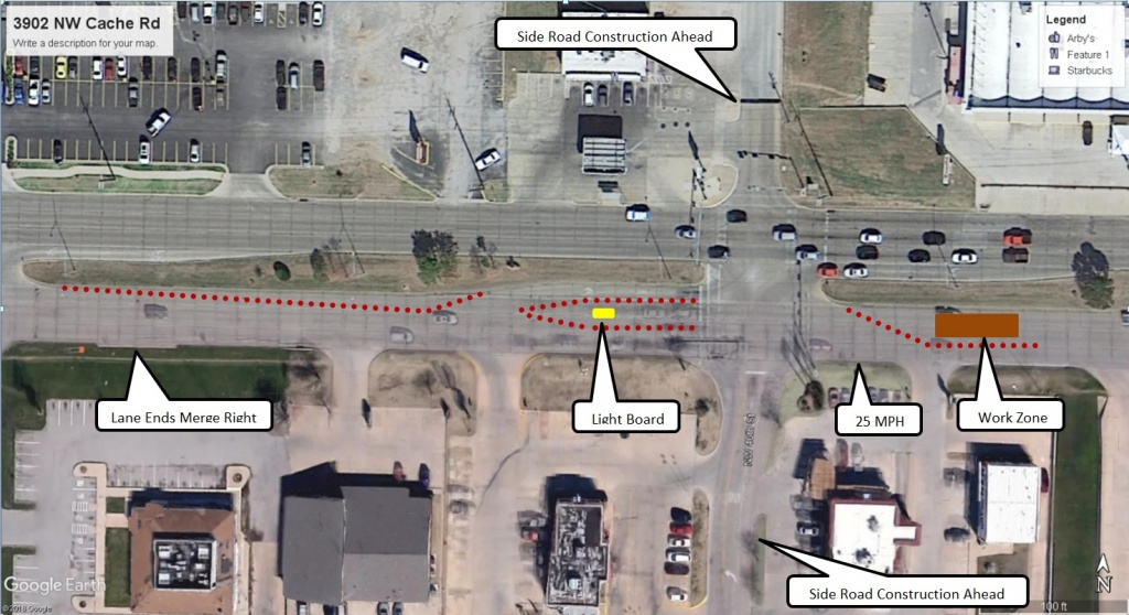 Lane Closures-3902 NW Cache Rd