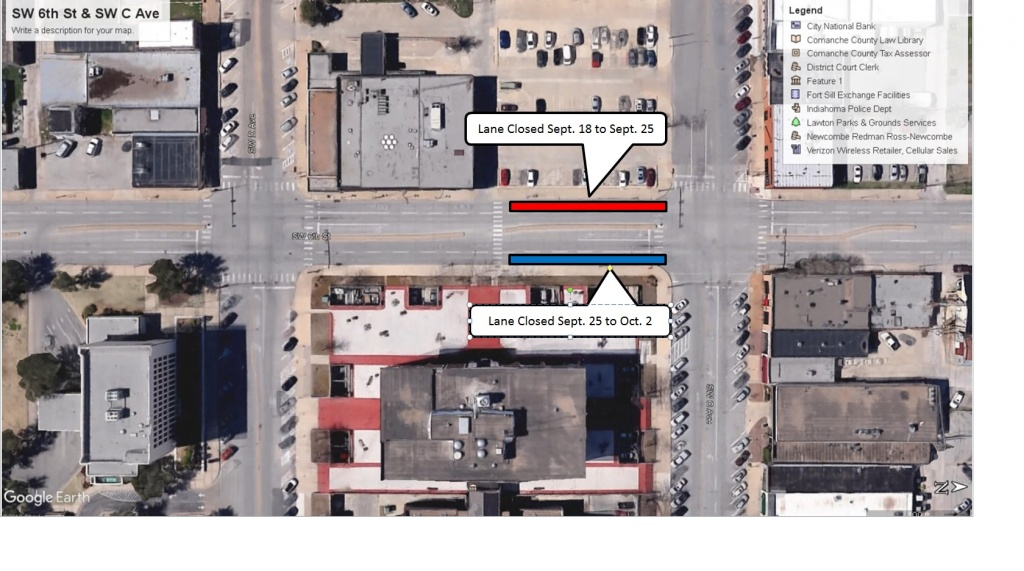 Lane Closure-SW 6th St and SW C Ave
