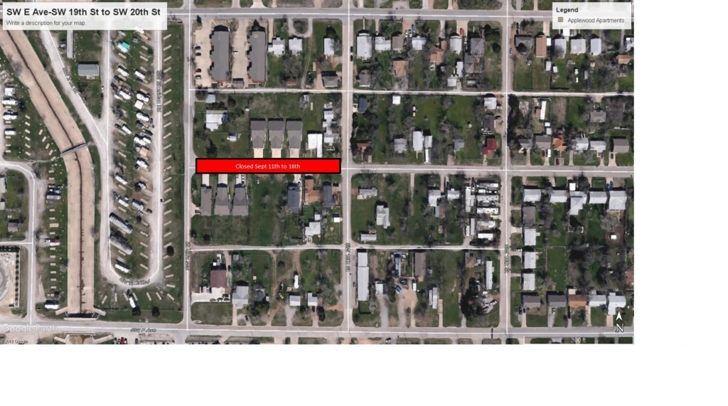 Street Closure-SW E Ave-SW 19th St to SW 20th St