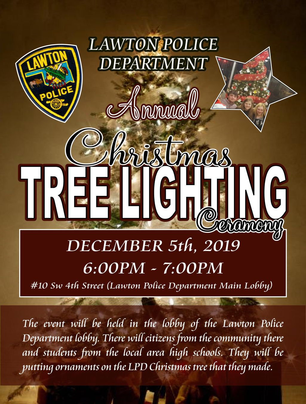 LPD Christmas Tree Lighting