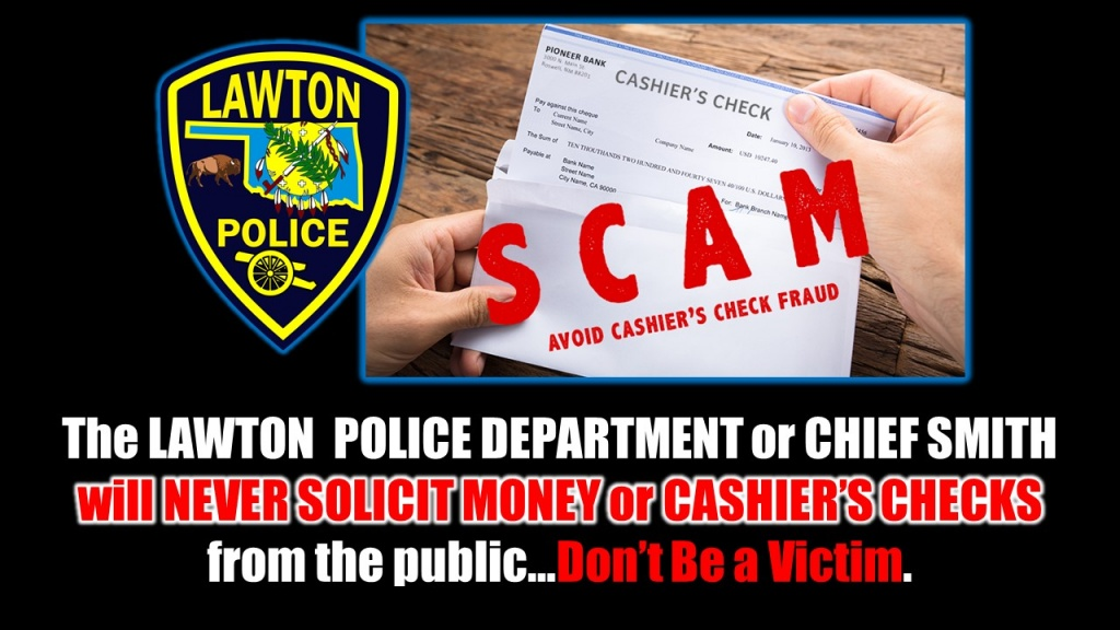 Cashier's Check Fraud