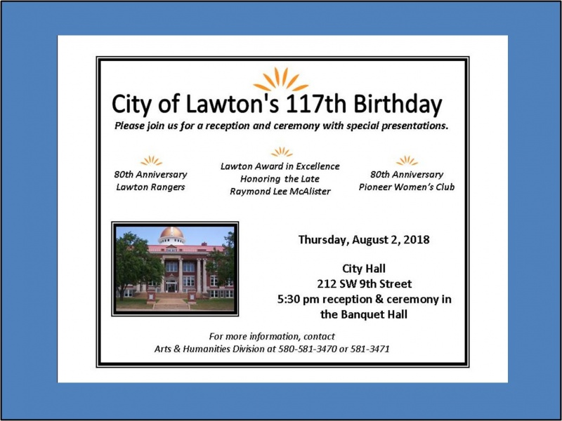 2018 City of Lawton Birthday Ceremony and Reception Invitation