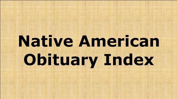 Native American Obit Index