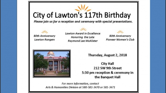 2018 City of Lawton Birthday Poster