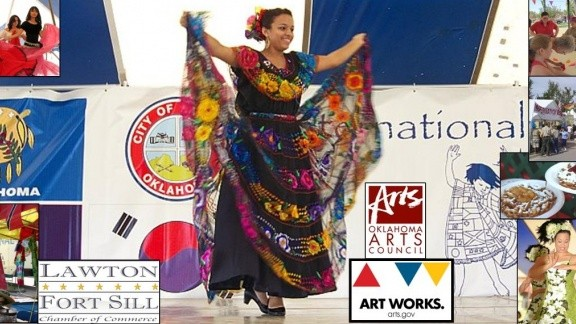 Lawton Folkloric Dancer on Stage at the festival montage