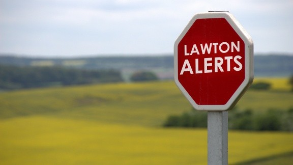 Alerts Road Sign City of Lawton