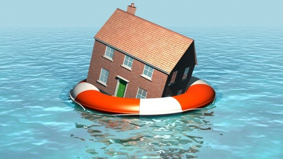 floating house graphic