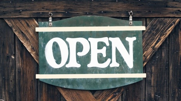 "A photo of an ""open"" sign"